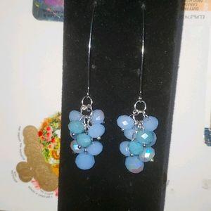 Dangled glass bead earrings